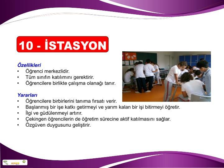 10 - İSTASYON