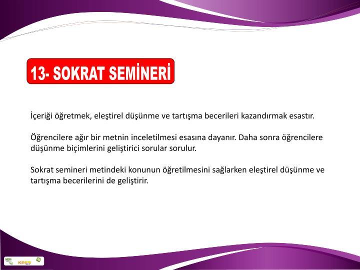 13- SOKRAT SEMİNERİ