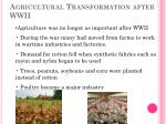 agricultural transformation after wwii