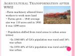 agricultural transformation after wwii1