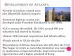 development of atlanta1