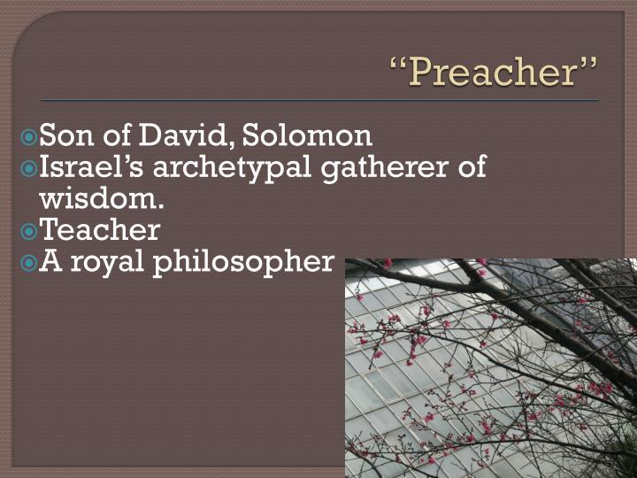"""""""Preacher"""""""