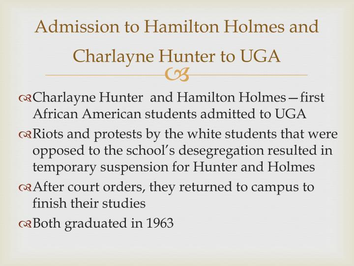 Admission to Hamilton