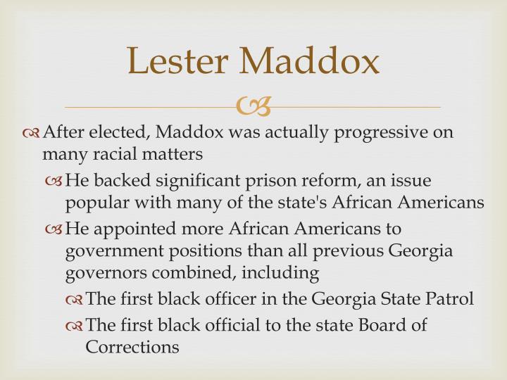 Lester Maddox