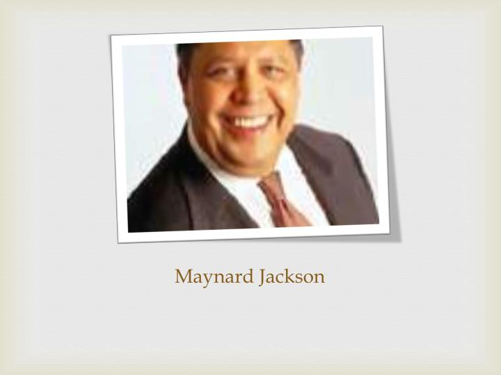 Maynard Jackson