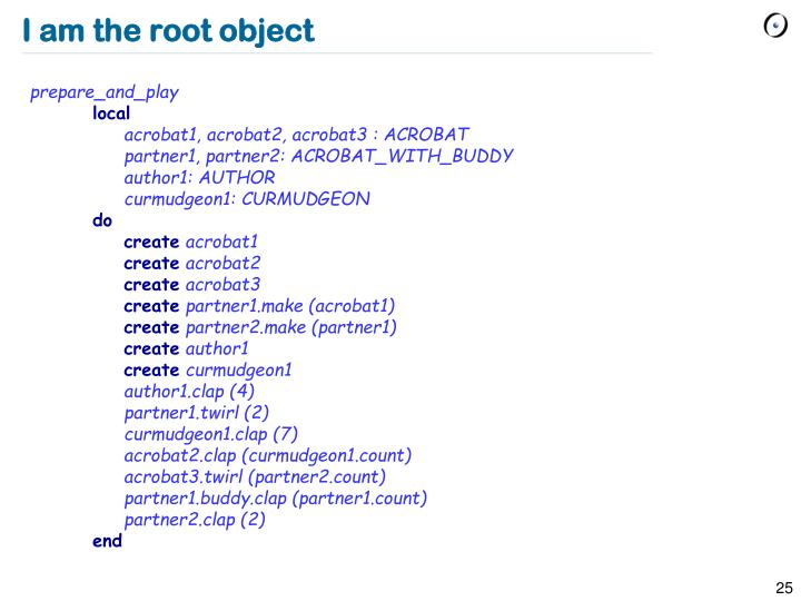 I am the root object