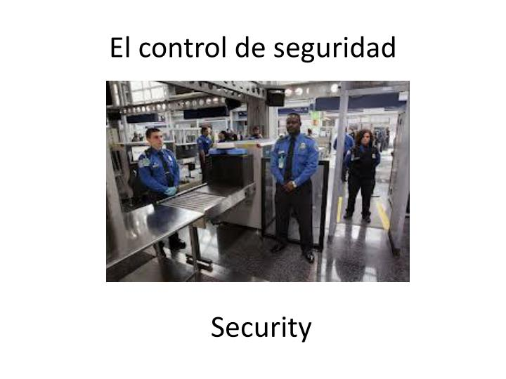 El control de