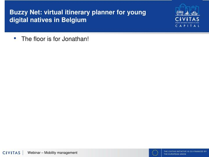 Buzzy Net: virtual itinerary planner for young digital natives in Belgium
