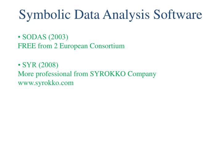 Symbolic Data Analysis Software