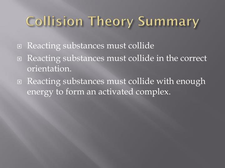 Collision Theory Summary