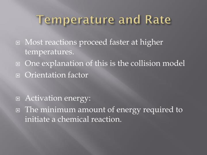 Temperature and Rate