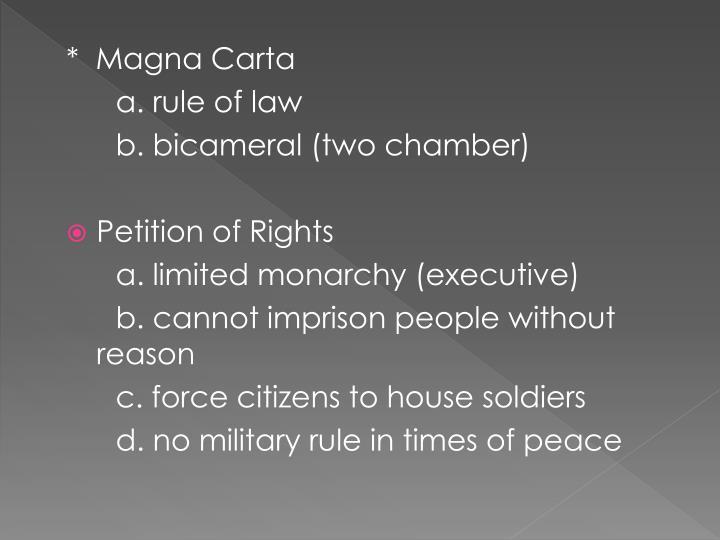 *  Magna Carta