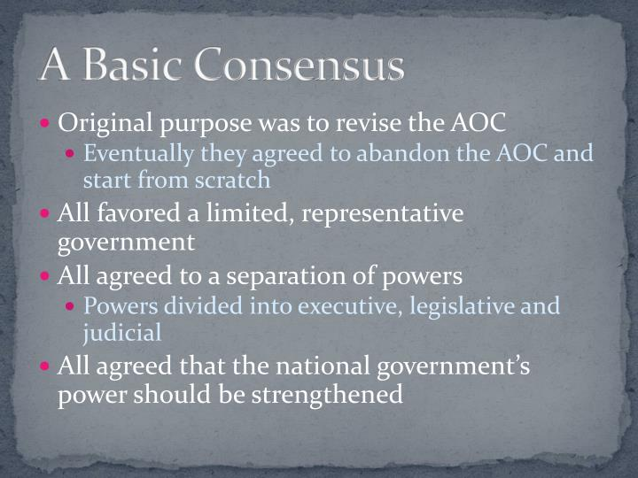 A Basic Consensus