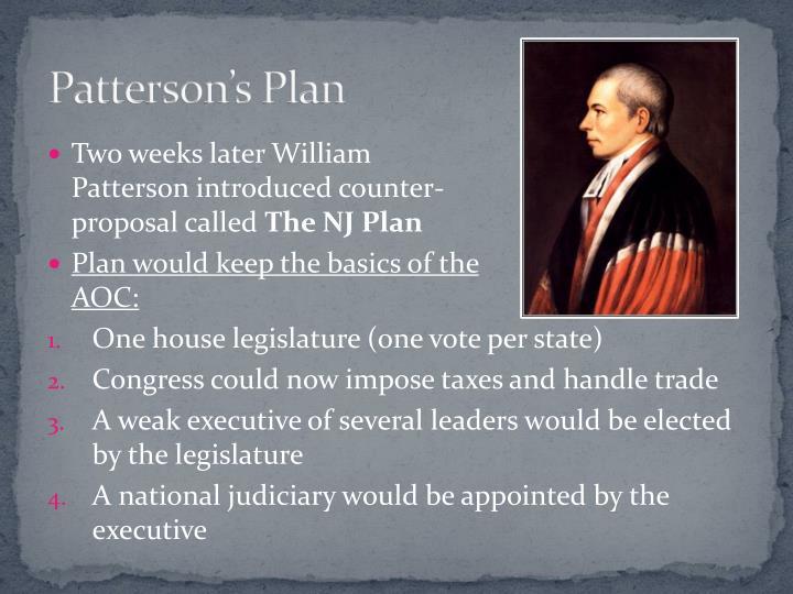 Patterson's Plan