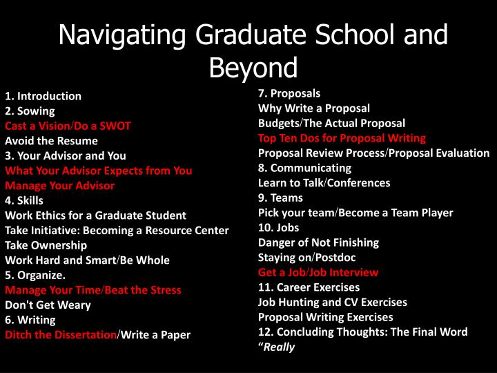Navigating Graduate School and Beyond