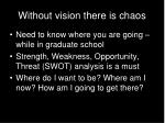 without vision there is chaos