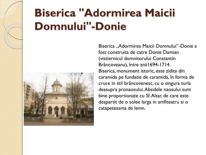 "Biserica ""Adormirea Maicii Domnului""-Donie"