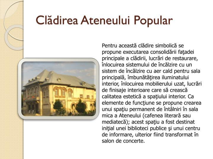 Clădirea Ateneului Popular