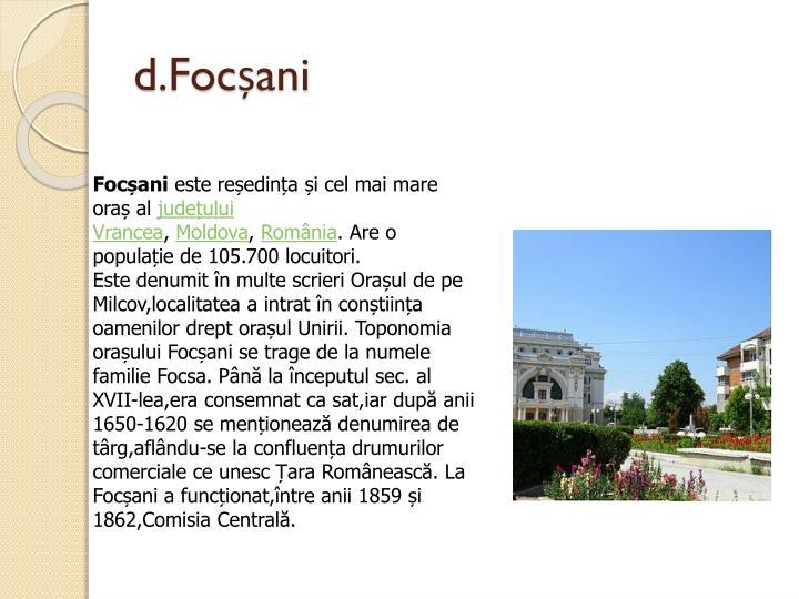 d.Focșani