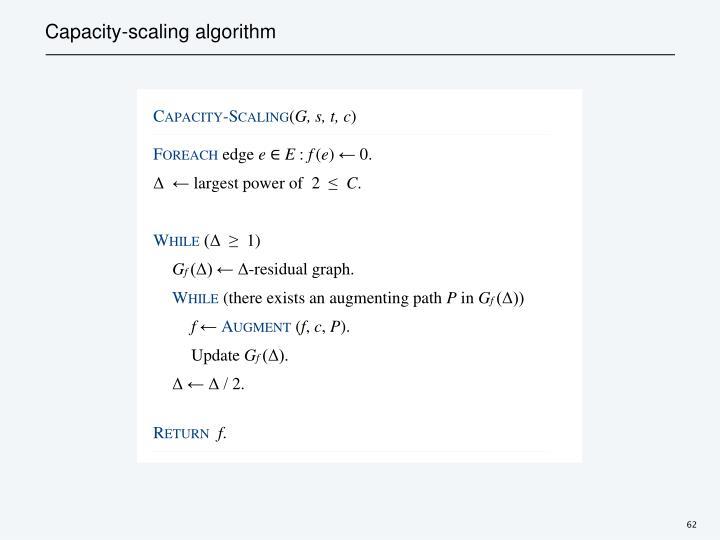 Capacity-scaling algorithm