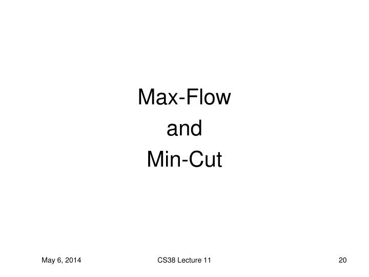 Max-Flow