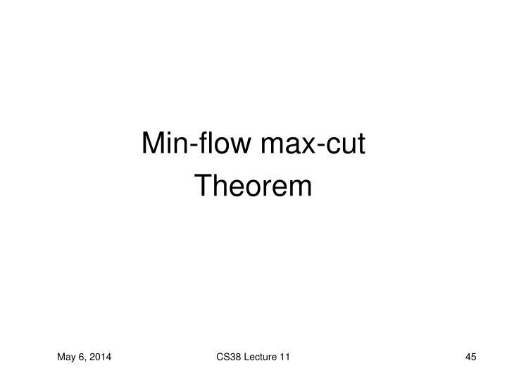 Min-flow max-cut