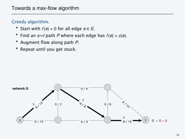 Towards a max-flow algorithm