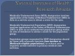 national institutes of health research awards9