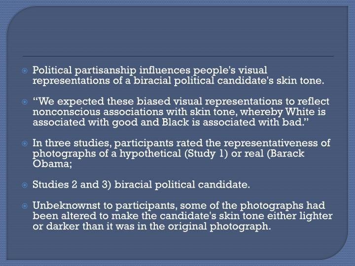 Political partisanship influences people's visual representations of a biracial political candidate'...