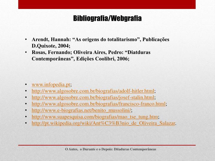 Bibliografia/Webgrafia