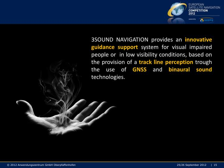 3SOUND NAVIGATION provides an