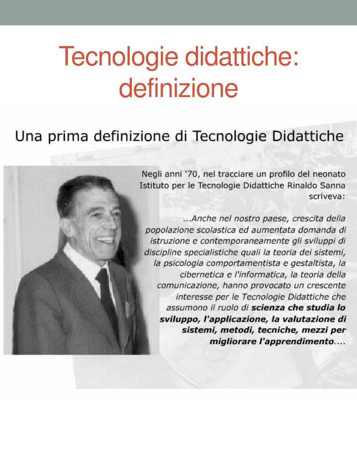 Tecnologie didattiche: definizione