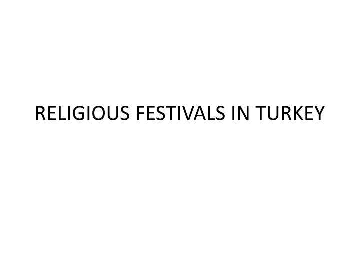 Religious festivals in turkey