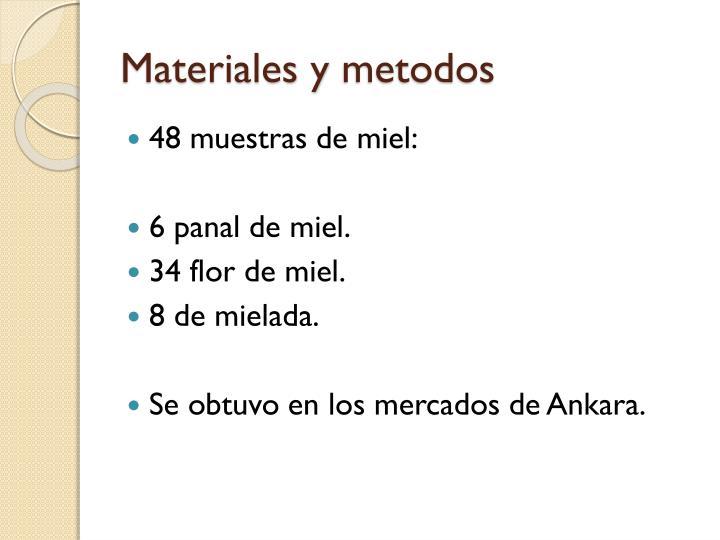 Materiales y