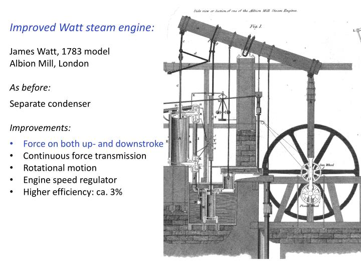 Improved Watt steam engine: