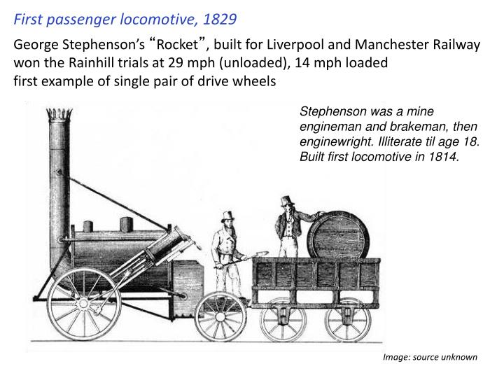 First passenger locomotive, 1829