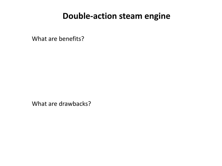 Double-action steam engine