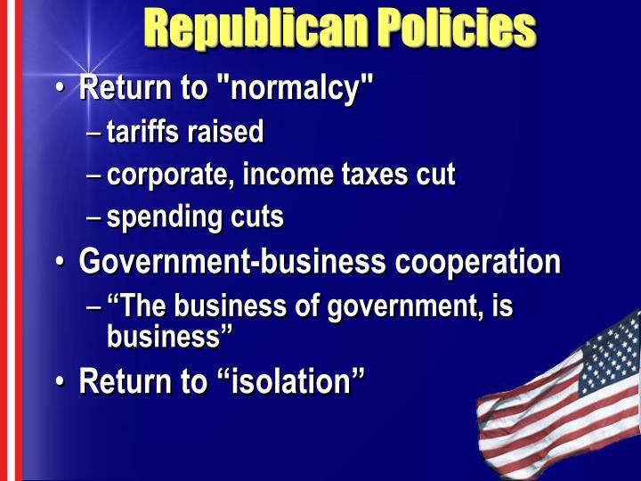 Republican Policies