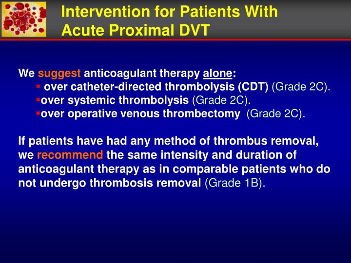 Intervention for Patients With