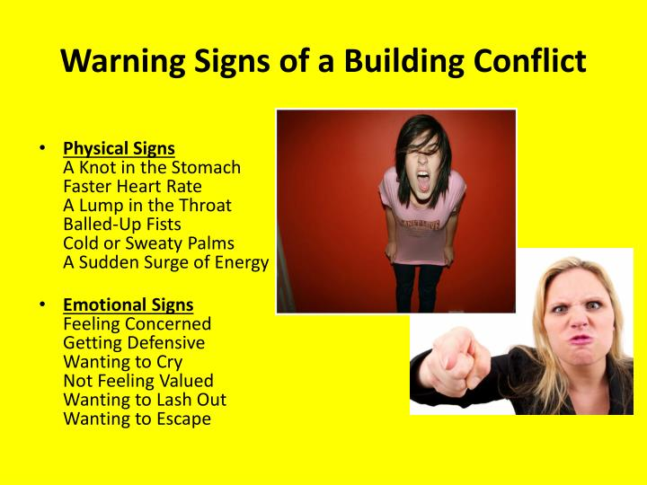 Warning Signs of a Building Conflict