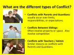 what are the different types of conflict