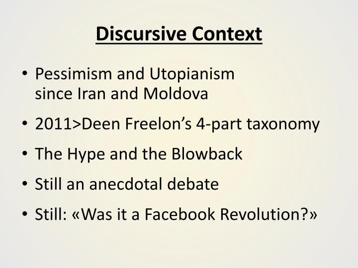 Discursive Context
