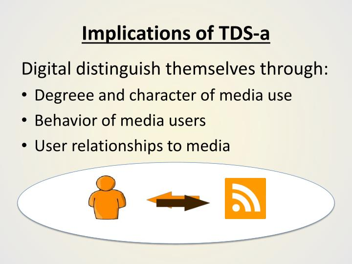 Implications of TDS-a