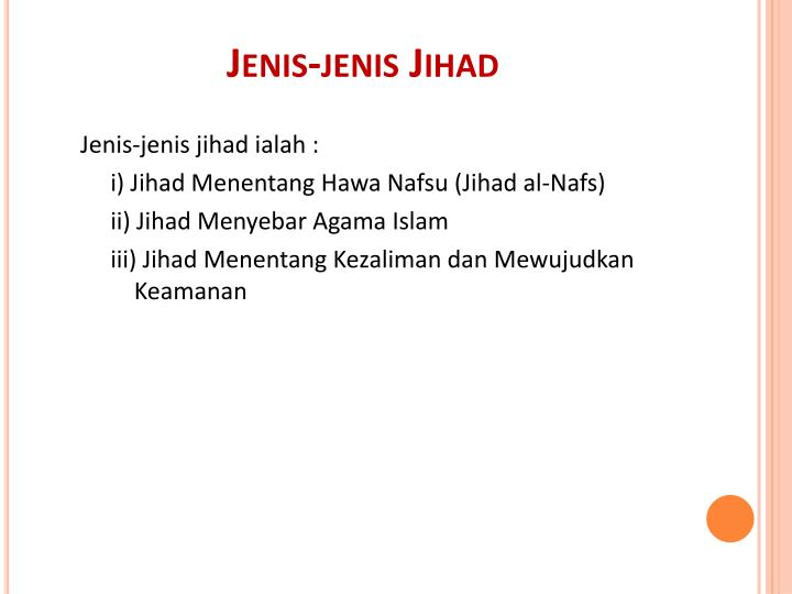 Jenis-jenis Jihad