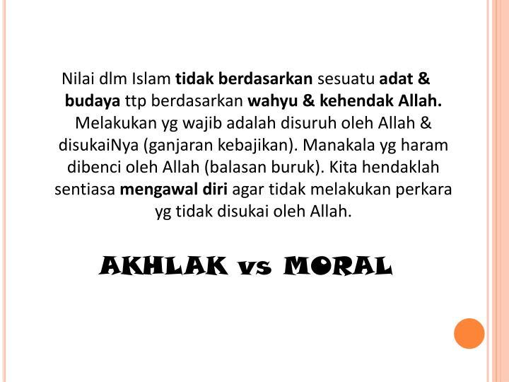 Nilai dlm Islam