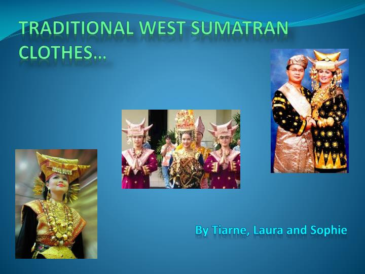 Traditional west sumatran clothes