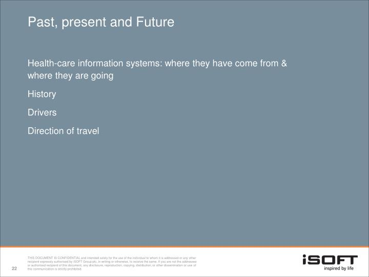 Health-care information systems: where they have come from & where they are going