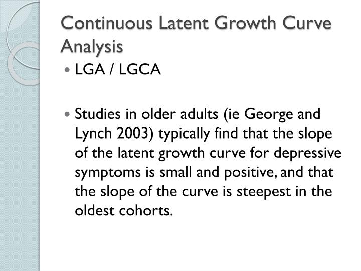 Continuous Latent Growth Curve Analysis