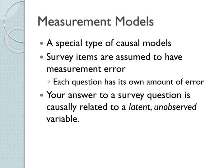 Measurement Models