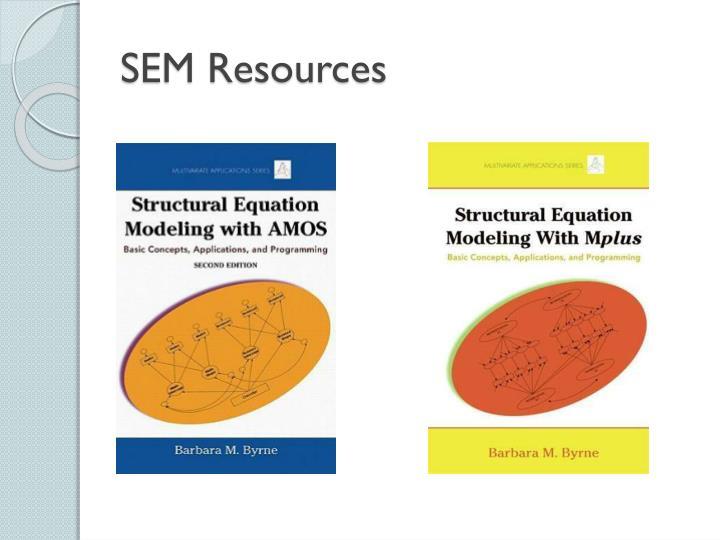 SEM Resources
